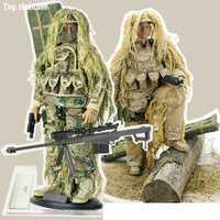 1/6 escala militar del ejército Flexible escala desierto/de la selva francotirador soldado figuras de acción, muñecos de ABS juego modelo Fit 12