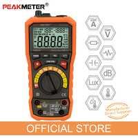 PEAKMETER PM8229 5 en 1 Auto multímetro Digital con múltiples funciones Lux nivel de sonido frecuencia temperatura humedad Tester Meter
