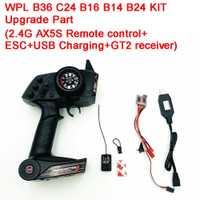 2,4g AX5S Control Remoto + ESC + carga USB + GT2 receptor equipos electrónicos actualizar parte de WPL KIT de B36 C24 B16 B14 B24