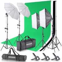 Neewer 2,6x3 m sistema de soporte de fondo K y 5500 W 800 k paraguas Softbox Kit de iluminación continua para estudio fotográfico