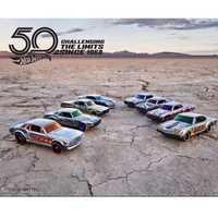 Caliente ruedas coche de coleccionista platino edición 50th aniversario Metal coches Diecast colección niños, juguetes vehículo para regalo 8 unids/set