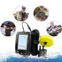 Detector de pesca al aire libre Xf02 buscador de peces portátil buscador de peces profundos alarma de eco sirena inalámbrica 0,6-buscador de peces 100M de profundidad