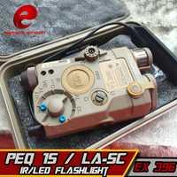 Elemento PEQ 15 LA-SC UHP Red Dot Laser IR lampara Airsoft Lazer para Shooting Game Softair Wapens Arsoft Armas Waffen Gun linterna