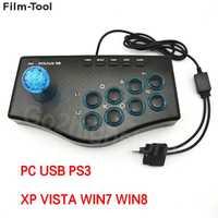 GamePad con cable USB para PC Game Controller Arcade joystick USB lucha controlador GamePad Mame para PC PS3 juego