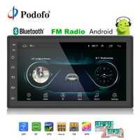 Podofo 2din Car Radio Android reproductor multimedia Autoradio 2 Din 7