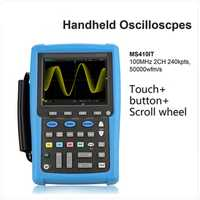 Micosig osciloscopio kit DIY mano osciloscopio multímetro digital portátil osciloscopio 100 MHz 2ch MS410IT