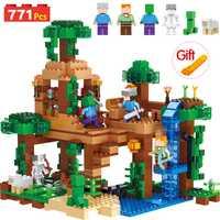 Creador de mi mundo bloques técnica Compatible LegoINGLYS Minecrafted árbol ladrillos juguetes para niños de regalo de Navidad