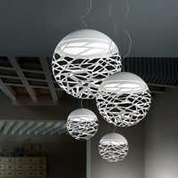 Livraison gratuite lampe de pendentif LED moderne blanc noir peinture métal suspension pour escalier salle à manger salon suspendu éclairage
