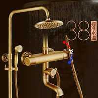 Ducha grifos montado en la pared grifo termostático ducha de lujo conjuntos de lluvia grifo del baño de Control termostático XE-8899