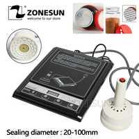 ZONESUN GLF-500F micro máquina de sellado de mano de inducción electromagnética de aluminio sellado de continua sellador de inducción