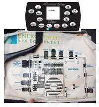 Lagunabay controlador jacuzzi spa reemplazo ENERGY SAVER spa equipo cabe Spa con 2 x Jet bomba 12VDC luz ET-H3000