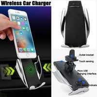 Inteligente sujeción automática coche cargador inalámbrico para IPhone Xs Max 8 7 Plus XR titular del teléfono del coche cargador rápido de aire ventilación soporte de montaje