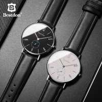 Reloj Bestdon hombres minimalista impermeable movimiento de cuarzo marca de lujo relojes de moda Casual clásico reloj de pulsera masculino nuevo