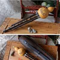 Flauta de bambú negro Hulusi calabaza Flauta Hulusi G F llave Calabash Flauta C bB Folk instrumento profesional Calabash Flauta Hulusi