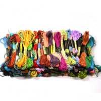 1 unids/lote 447 color Cruz Hilos patrón arte colores kit Hilo dental madejas carta Bordado nuevo envío libre