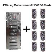 Colorido C.B250A-BTC PLUS minería placa base con 8 ranuras PCI-E 8 colorido 1060 6g de Graphics Card 1506-1708 para Ethereum
