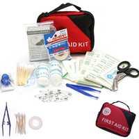 Kit de primeros auxilios portátil píldora sub-kit bolsa pequeña bolsa de medicina de emergencia supervivencia 101 unids Herramientas color caramelo bolsa píldora contenedor