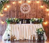 Personalizado monograma familia iniciales Wall sign decoración de madera regalo perfecto baby shower decoración de fiesta de cumpleaños
