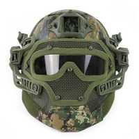 NFSTRIKE protectora de alambre de acero rápido juego de casco para Airsoft militar tácticas casco para Nerf accesorios juegos actividad al aire libre