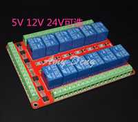 Módulo de relé de 12 vías/acoplador bidireconocimiento/disparador de nivel alto/bajo/terminal de dos vías/5 v/12 V/24 V