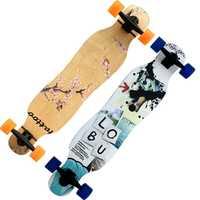 4 ruedas Arce Longboard completo Skateboard Street Dancing Long Board Skate Board adultos jóvenes doble balancín