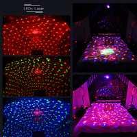 Nuevo estilo LED basura magia láser Bola de colores giratoria lámpara de luz láser bola mágica de cristal KTV DJ Bar fiesta de noche suministros