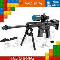 527 unids modelo M107 sniping rifle arma de juguete para Militar asalto soldados Building kit Blocs Juguetes compitable con LEGO