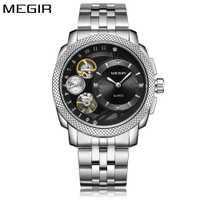 Reloj MEGIR para hombre, reloj decorativo, reloj de pulsera de cuarzo para hombre, de acero inoxidable, reloj de pulsera resistente al agua, reloj masculino, 2018 nuevo