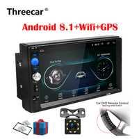 2 Din Car Radio Android 8,0 Universal navegación GPS Bluetooth pantalla táctil Wifi coche estéreo de Audio USB FM coche Multimedia MP5