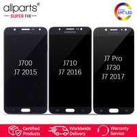 AMOLED Original pantalla para SAMSUNG Galaxy J7 2015 J700 / 2016 J710 / J7 Pro J730 LCD Tactil Completa Display táctil Écran Digitalizador reemplazo