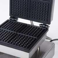 Comercial cuatro red multifunción Panini crujiente de waffle máquina para waffles de sándwich máquina de tortitas de carne