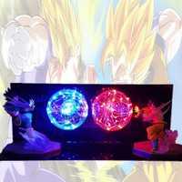 Dragon Ball Z Goku Vegeta batalla llevó la bombilla de luz de la noche de la bola del dragón del Lampara hijo de Goku lámpara para dormitorio