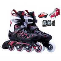 4 ruedas adolescentes patines, ABEC-7 silencioso eje rodamiento patines en línea, silencio PU patines rueda aprobar SGS prueba
