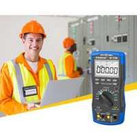 Multímetro digital de cuatro y medio de alta precisión de rango automático electrónico universal medidor inteligente de fondo