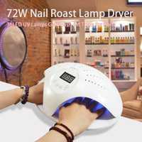 Sol 48 W/72 W Dual UV lámpara LED de uñas secador de 36 LEDs secador de uñas para todos los geles con 30 s/60 s botón Todo para manicura lámpara de uñas para uñas