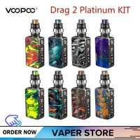 Original VOOPOO arrastrar 2 platino Vape Kit con arrastrar 2 5 ml Uforce T2 tanque Uforce U2 N3 177 W Max salida cigarrillo electrónico