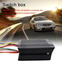 80 AMP caja de interruptor controlador 20A impermeable coche barco interruptor basculante caja de 12 V SPST 6-Interruptor de posición de Panel 12 V SPST 6-banda