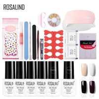Rosalind la manicura con lámpara de uñas extensión 7 ml esmalte de uñas Gel UV secador de uñas de arte juegos para manicura Kits de venta al por mayor