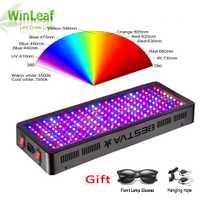 LED élèvent le plein spectre léger 300W 600W 800W 1000W 1200W 1500W 1800W 2000W W Double puce rouge/bleu/UV/IR pour des plantes d'intérieur VEG BLOOM