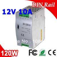 Dr-120-12 LED de salida única DIN Rail conmutación Suministros eléctricos transformador DC 12 V 10a salida SMPS