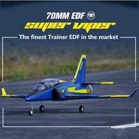 FMS RC avión 70mm Super Viper acondicionado ventilador FED Jet entrenador 6 S se retrae EPO PNP a gran escala modelo Hobby avión