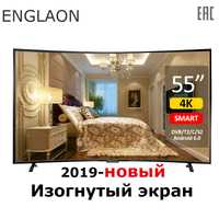 TV de 55 pulgadas ENGLAON UA550SF 4 K Smart TV Android 6,0 DVB-T2 curva LED TV smart TV
