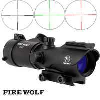 Fuego Lobo táctico 4X32 LER punto rojo francotirador alcance Airsoft vista Riflescope Rifle alcance para caza