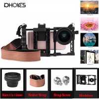 100% nuevo HD profesional de la cámara del teléfono celular Kit de lente para iPhone 8 7 6 s 6 xiaomi redmi note 4 Samsung Galaxy S8 S8 +