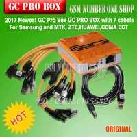 Original más reciente verison GC PRO box gcpro caja con 7 cables para Samsung ZTE Huawei MTK CDMA + + envío libre