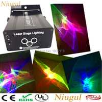 Niugul 3 lente RGB luz láser proyector etapa efecto de iluminación RGB LED onda de agua danza del partido Disco DJ vacaciones de Navidad luces láser