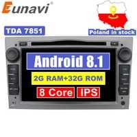 Eunavi 2 Din Octa Core 7 ''Android 8.1 dvd de voiture Radio Player Pour Opel Astra Vectra Antara Zafira Corsa GPS navi Wifi voiture stéréo