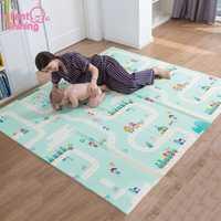 Infantile brillant 180X200 CM XPE tapis de jeu 1 CM épaisseur dessin animé bébé tapis de jeu pliable anti-dérapant tapis enfants tapis de jeu B