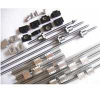 6 conjuntos JHY lineal SBR16 L300/1500/1500mm + SFU1605-350/1550/1550mm bola tornillo + 3 BK12/BF12 + 3 DSG16H tuerca + 3 acoplador para cnc