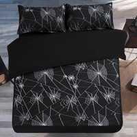 Envío libre blanco y negro araña/matemáticas ecuación ropa de cama funda de edredón Twin/full/Queen tamaño 3/4 unids sin relleno textil